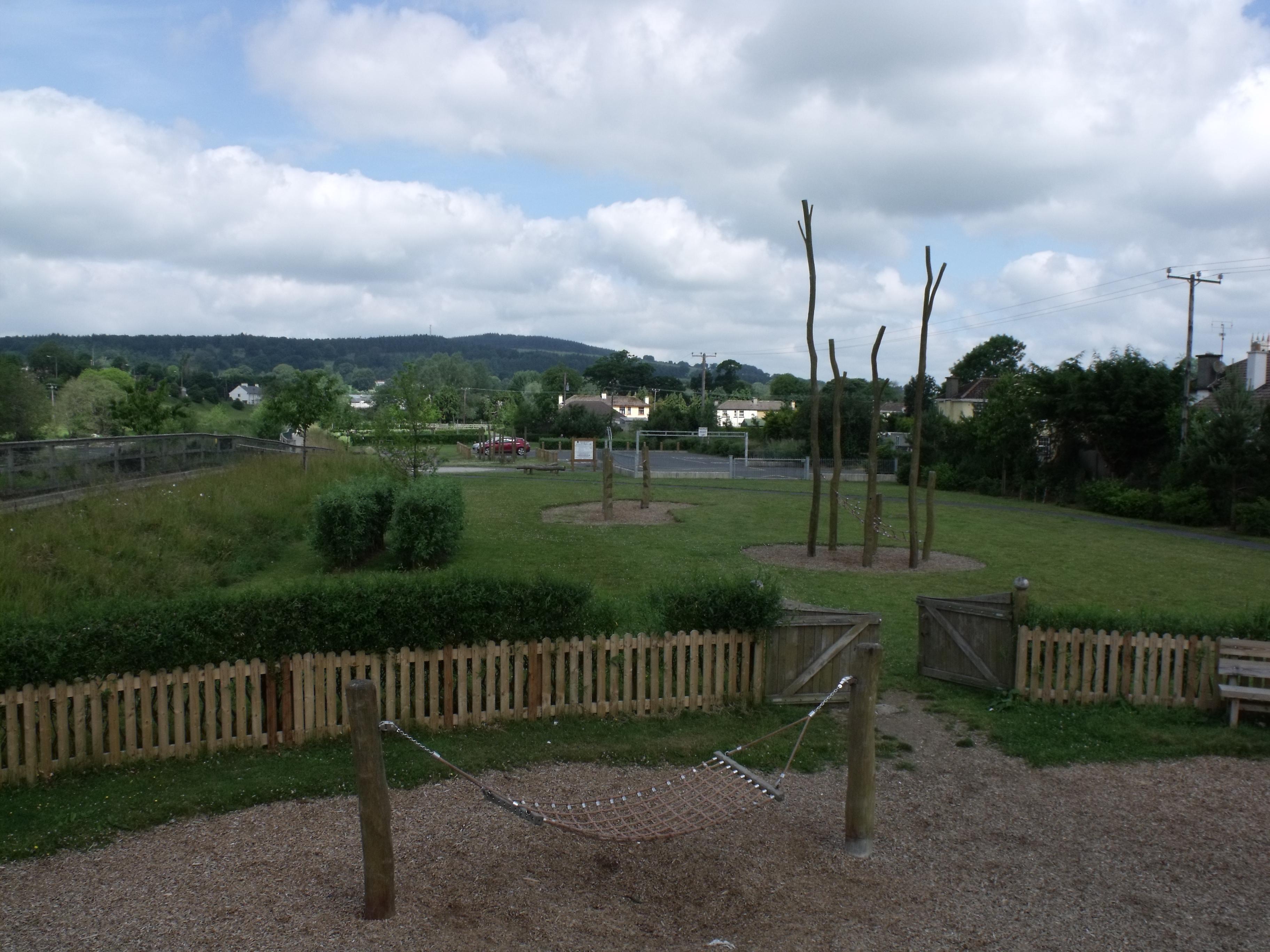 Baltinglass Park, view from playground.