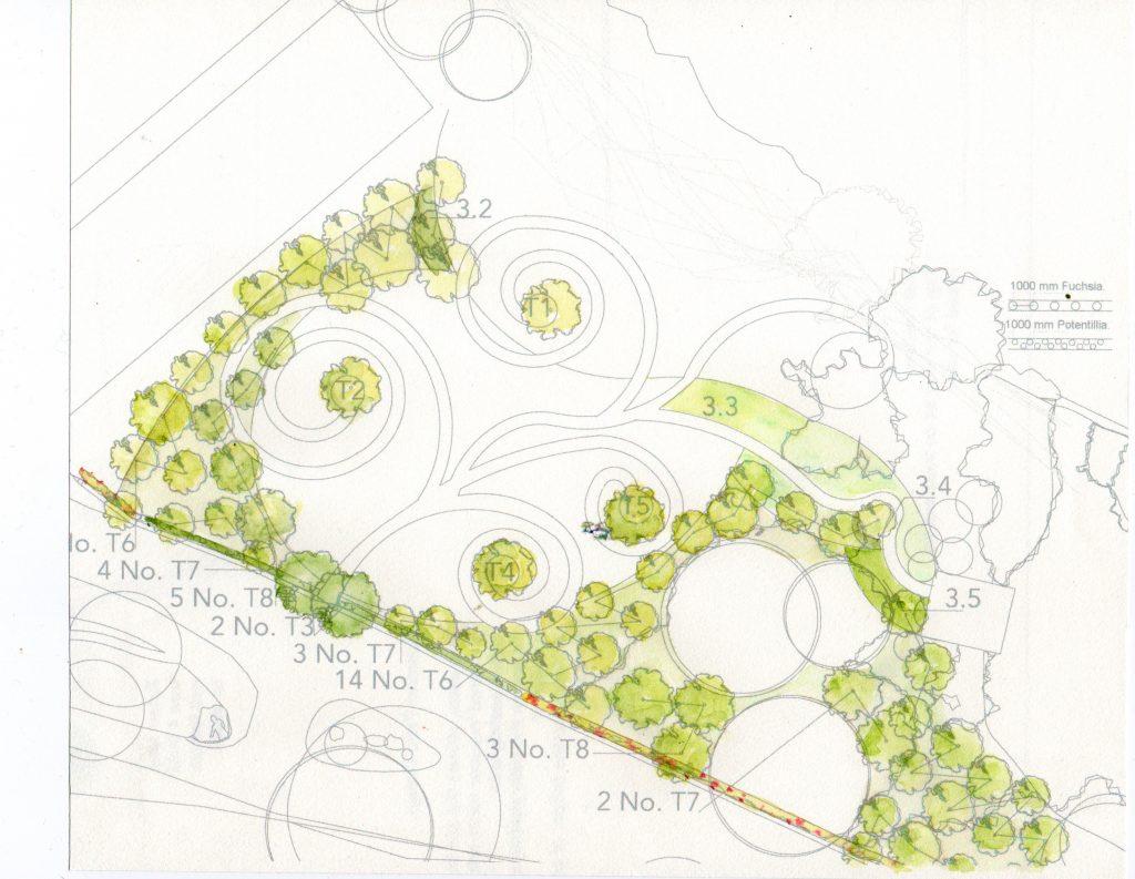 Woodland Garden Planting Plan Wicklow © Roisin Byrne