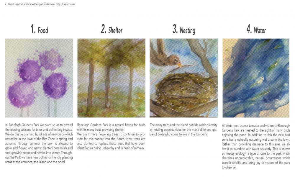 What Birds Need Ranelagh Gardens Park Enhancement Works Concept Development Document