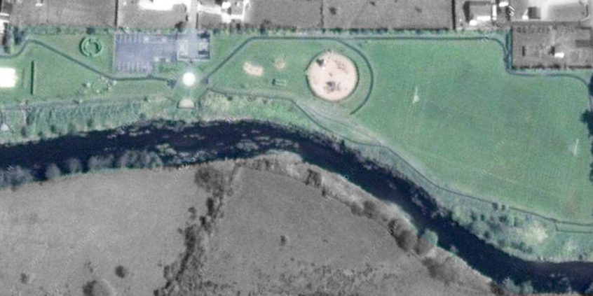 Arial View of completed Baltinglass Park