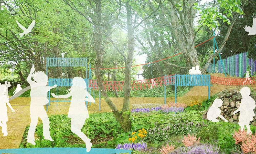 Nature Play Area Herzog Park. Indicative Perspective Based on Engagement Process with 75 Local Children © Roisin Byrne